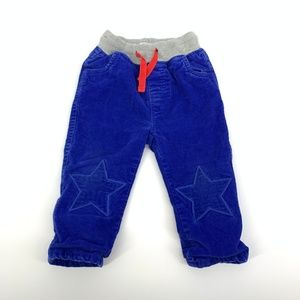 Baby Boden Star Patch Blue Corduroy Pants